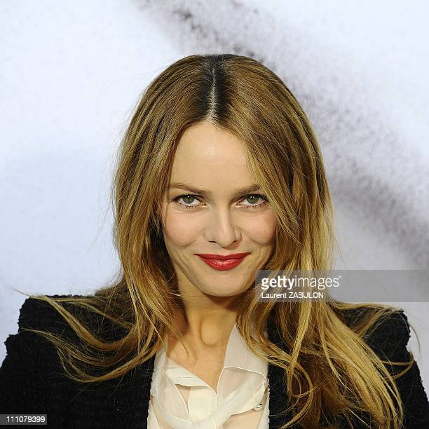 Celebs at Chanel Readytowear Fashion Show in Paris France on March 09th 2010 Vanessa Paradis