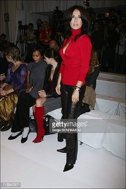 Celebs At JeanLouis Scherrer Ready To Wear SpringSummer2007 Fashion Show In Paris On October 3Rd 2006 In Paris France Here Natacha Amal