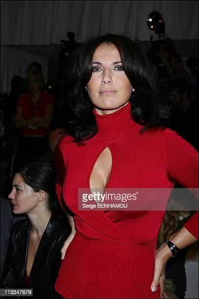 Celebs At JeanLouis Scherrer Ready To Wear SpringSummer2007 Fashion Show In Paris On October 3Rd 2006 In Paris France Here Natacha Amal