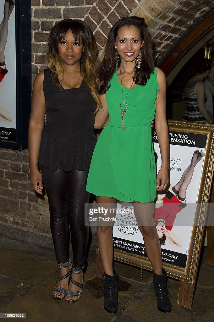 Celena Cherry and Mariama Goodman attends the press night of 'Blind Date' at Charing Cross Theatre on June 4, 2013 in London, England.