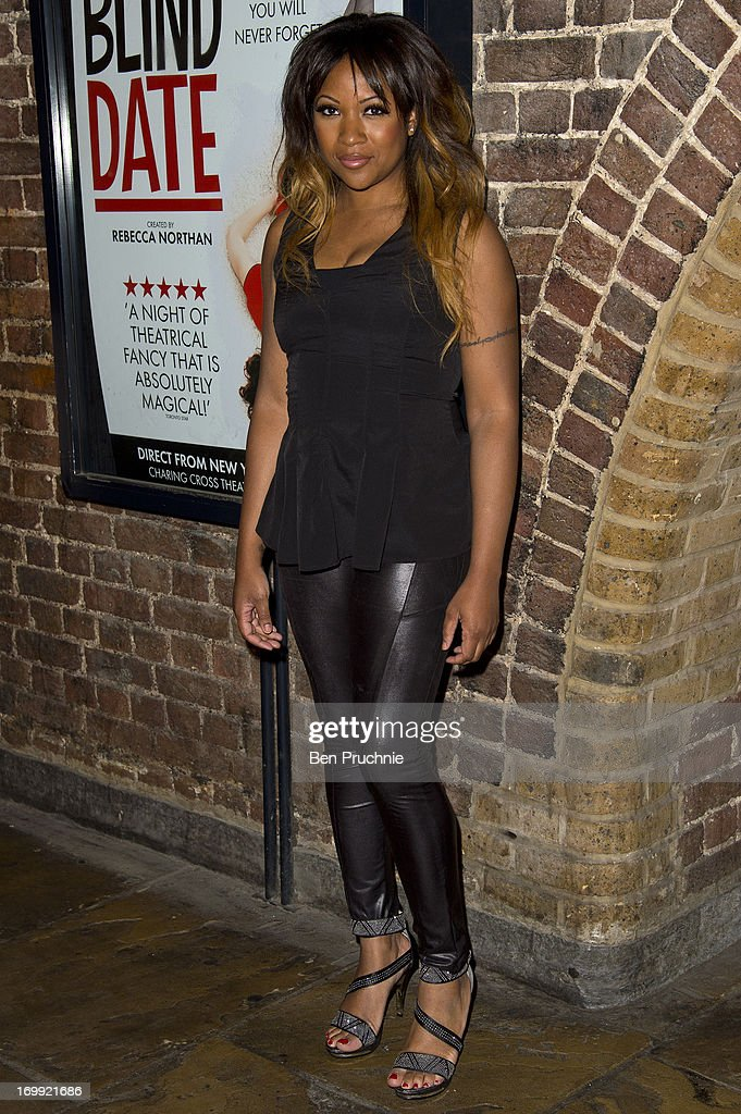 Celena Cherry attends the press night of 'Blind Date' at Charing Cross Theatre on June 4, 2013 in London, England.