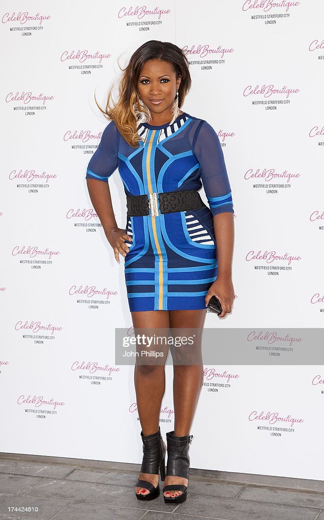 Celena Cherry attends the store launch party at CelebBoutique, Westfield Stratford City on July 25, 2013 in London, England.