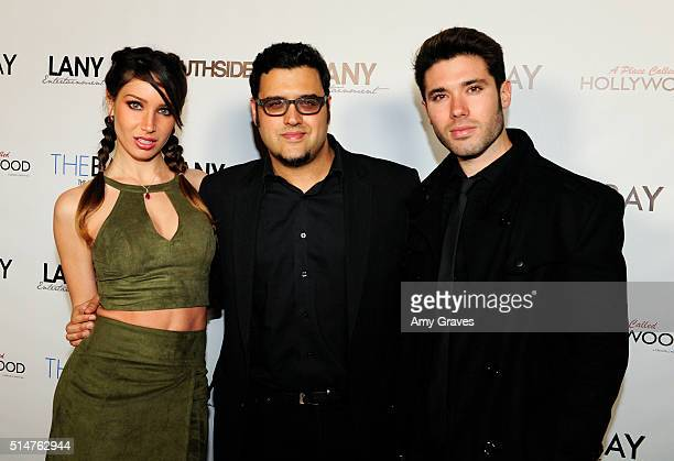 Celeste Fianna Kristos Andrews and Gregori Martin attend the 5th Annual LANY Entertainment Mixer at St Felix on March 10 2016 in Hollywood California