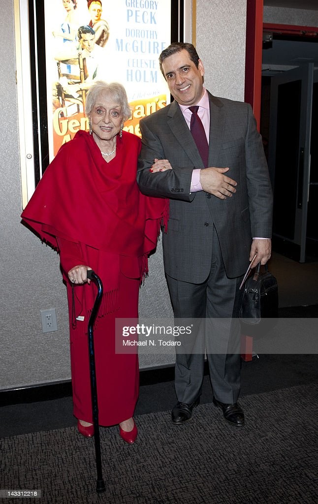 <a gi-track='captionPersonalityLinkClicked' href=/galleries/search?phrase=Celeste+Holm&family=editorial&specificpeople=208238 ng-click='$event.stopPropagation()'>Celeste Holm</a> and Frank Basil attend The Academy of Motion Picture Arts And Sciences Celebrates The 65th Anniversary Of 'Gentleman's Agreement' at Lighthouse International Conference Center on April 23, 2012 in New York City.