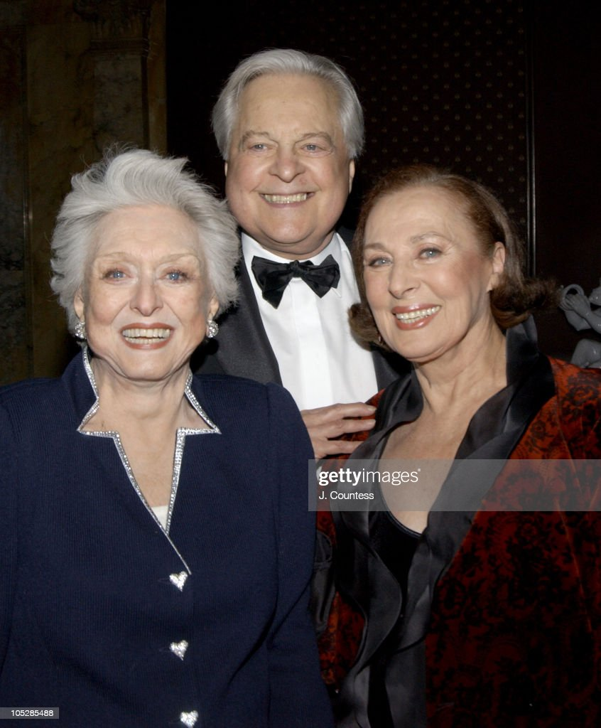 Celeste Holm, Robert Osborne and Rita Gam during The Academy of Motion Picture Arts & Sciences 2004 Oscar Night Party at Le Cirque 2000 in New York City, United States.