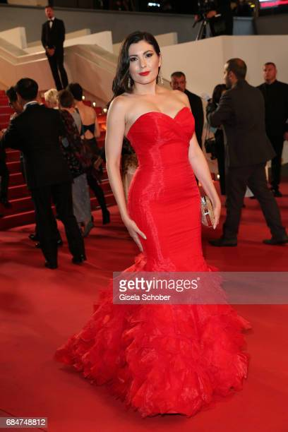 Celeste Thorson attends the 'Blade Of The Immortal ' screening during the 70th annual Cannes Film Festival at Palais des Festivals on May 18 2017 in...