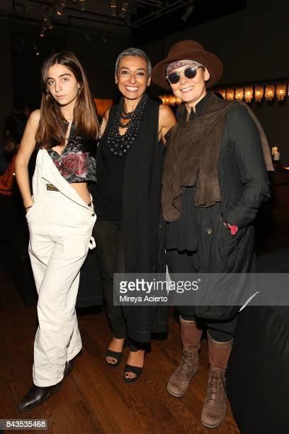 Celia Babini Zainab Salbi and Sonja Nuttall attend the Urban Zen NYFW Presentation at Urban Zen on September 6 2017 in New York City