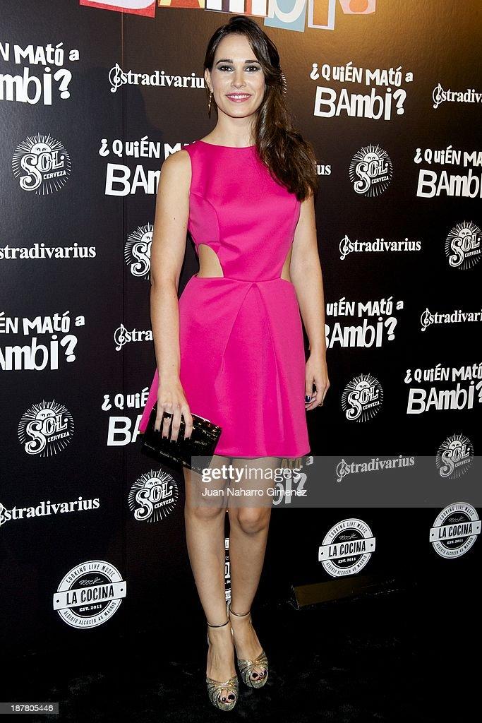 Celia Freijeiro attends 'Quien Mato a Bambi?' premiere at La Cocina Rock Bar on November 12, 2013 in Madrid, Spain.