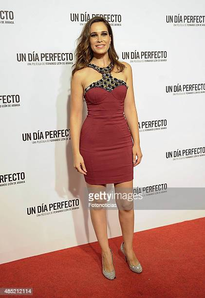 Celia Freijeiro attends the 'A Perfect Day' Premiere at Palafox Cinema on August 25 2015 in Madrid Spain