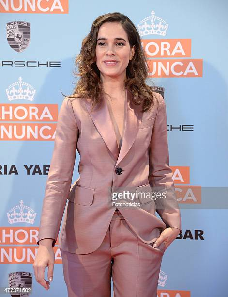 Celia Freijeiro attends the 'Ahora o Nunca' premiere at Capitol Cinema on June 16 2015 in Madrid Spain