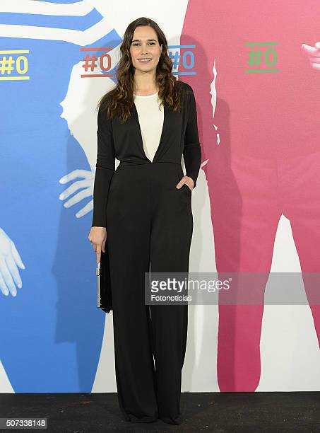 Celia Freijeiro attends the Movistar New Channel presentation at Telefonica Flagship Store on January 28 2016 in Madrid Spain