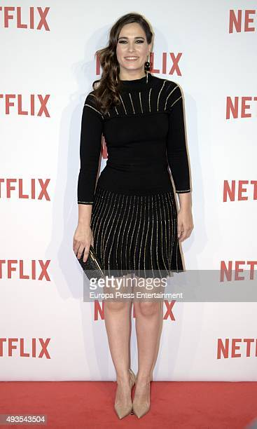 Celia Freijeiro attends the red carpet of Netflix presentation on October 20 2015 in Madrid Spain