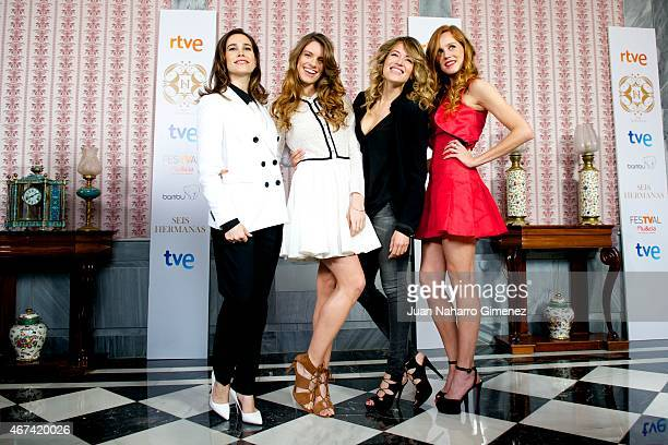 Celia Freijeiro Mariona Tena Marta Larralde and Maria Castro attend the 'Seis Hermanas' photocall during FesTVal Murcia 2015 on March 24 2015 in...