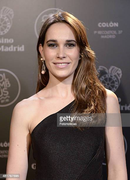 Celia Freijero attends Casino Gran MadridColon Goya's Party on March 31 2014 in Madrid Spain