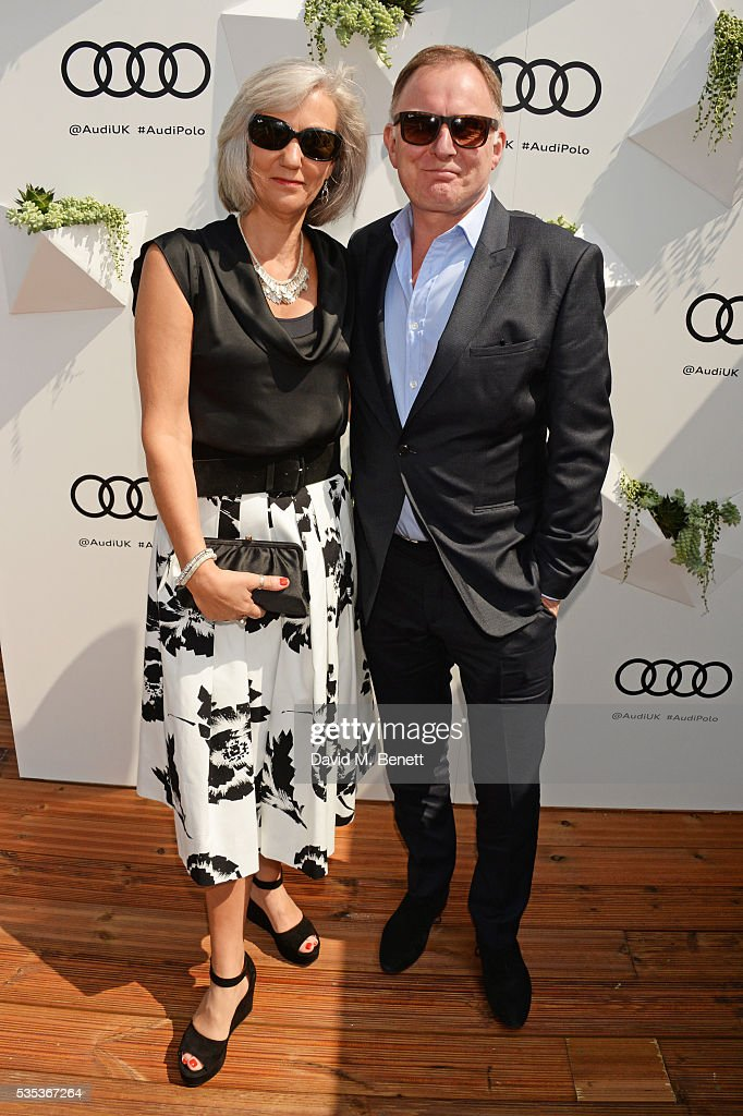 Celia Glenister (L) and Robert Glenister attend day two of the Audi Polo Challenge at Coworth Park on May 29, 2016 in London, England.