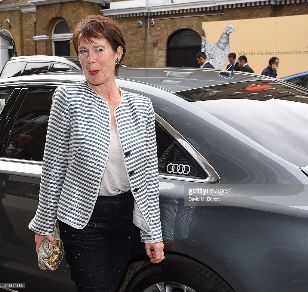 <a gi-track='captionPersonalityLinkClicked' href=/galleries/search?phrase=Celia+Imrie&family=editorial&specificpeople=214754 ng-click='$event.stopPropagation()'>Celia Imrie</a> arrives in an Audi at The Old Vic Summer Gala on June 27, 2016 in London, England.