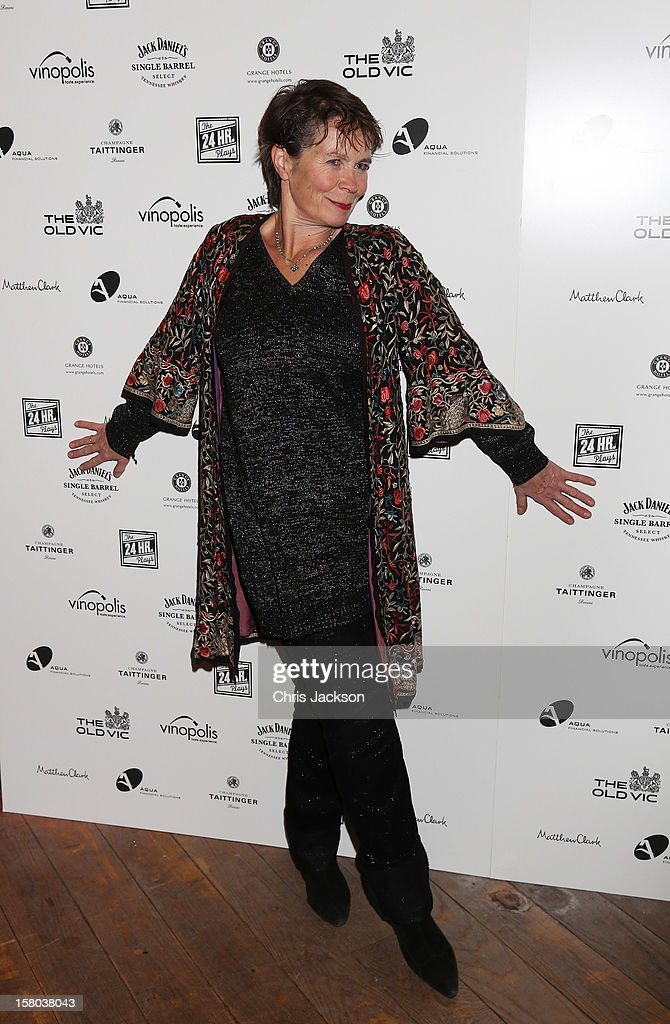 Celia Imrie attends the post-show party, The 25th Hour, following The Old Vic's 24 Hour Musicals Celebrity Gala 2012 during which guests drank Jack Daniels Single Barrel, Curtain Raiser cocktails in The Great Halls, Vinopolis, Borough on December 9, 2012 in London, England.