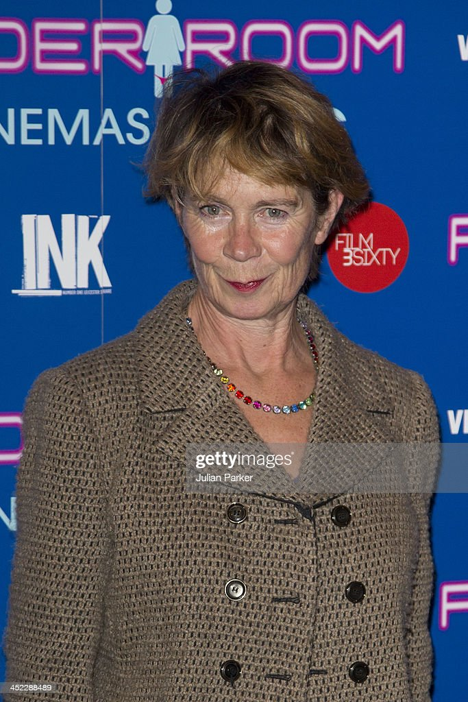 <a gi-track='captionPersonalityLinkClicked' href=/galleries/search?phrase=Celia+Imrie&family=editorial&specificpeople=214754 ng-click='$event.stopPropagation()'>Celia Imrie</a> attends the UK Premiere of 'Powder Room' at Cineworld Haymarket on November 27, 2013 in London, England.