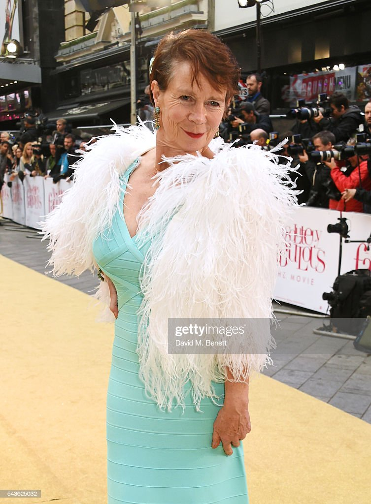 Celia Imrie attends the World Premiere of 'Absolutely Fabulous: The Movie' at Odeon Leicester Square on June 29, 2016 in London, England.