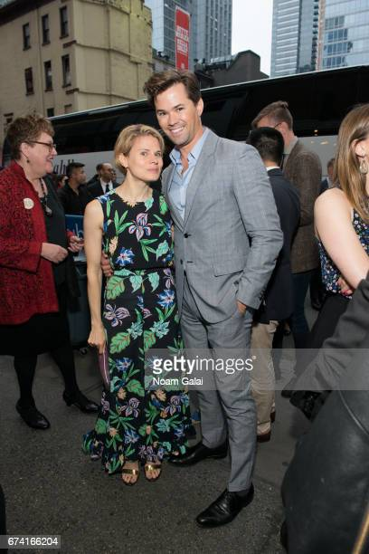 Celia KeenanBolger and Andrew Rannells attend the opening night on Broadway of Lucas Hnath's 'A Doll's House Part 2' starring Laurie Metcalf and...