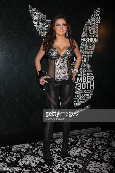 Celia Lora attends the Christmas Playboy Mexico magazine party at the ...