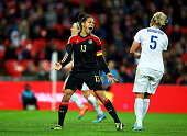 Celia Sasic of Germany celebrates after scoring her team's third goal during the Women's International Friendly match between England and Germany at...