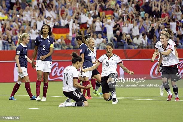 Celia Sasic of Germany celebrates her goal against France during the FIFA Women's World Cup Canada 2015 quarter final match between Germany and...