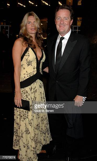 Celia Walden and Piers Morgan attend the Berkeley Square Ball at Berkeley Square on September 27 2007 in London England