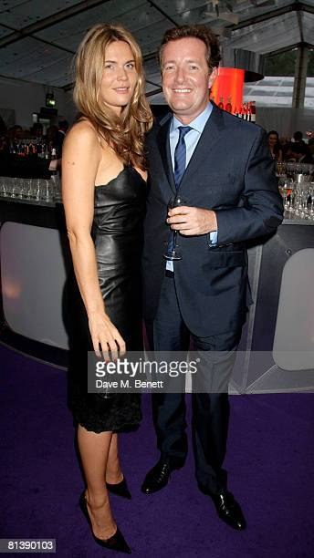 Celia Walden and Piers Morgan attend the Glamour Woman Of The Year Awards at Berkeley Square on June 3 2008 in London England