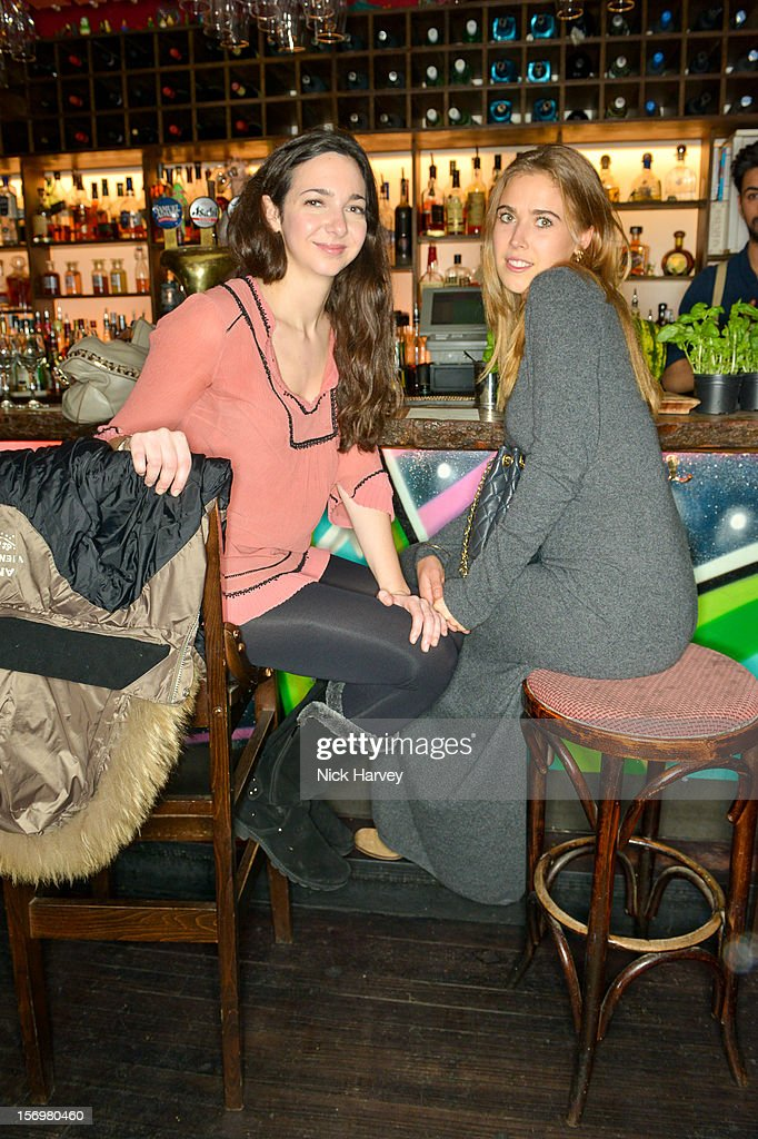 Celia Weinstock and Jessica Naylor-Leyland attend a party to celebrate the best of W&W Jewellery at Barts bar on November 26, 2012 in London, England.