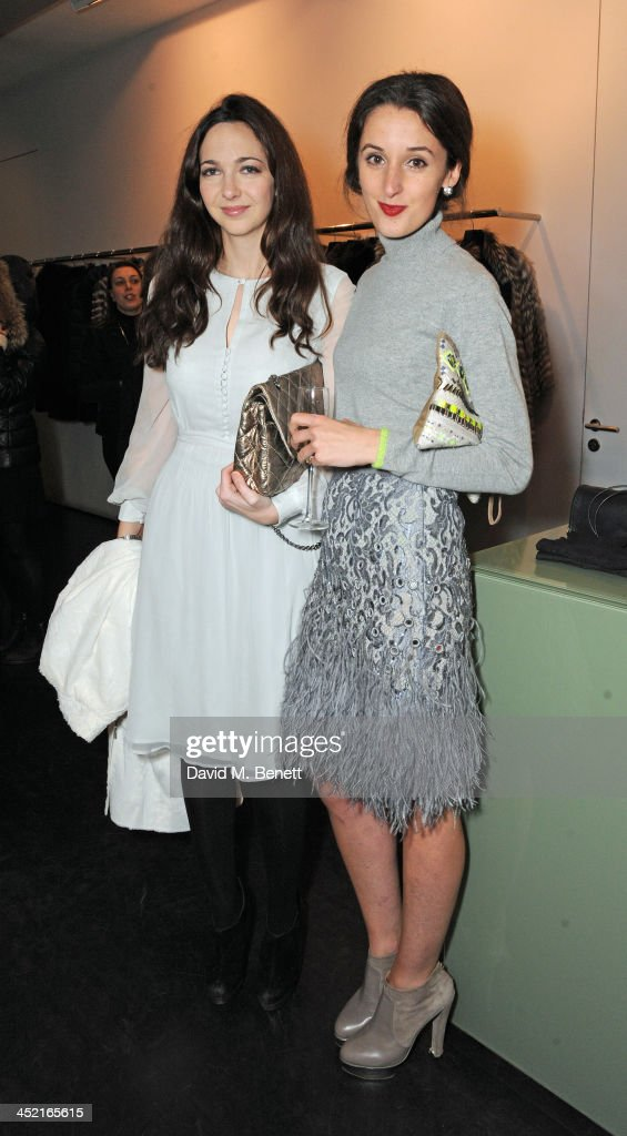 Celia Weinstock and Rosanna Falconer attend A Winter's Evening With Hockley hosted by Alice Naylor-Leyland and Katie Readman to preview the Autumn/Winter 2013-2014 collection at the Hockley Conduit Street store on November 26, 2013 in London, England.