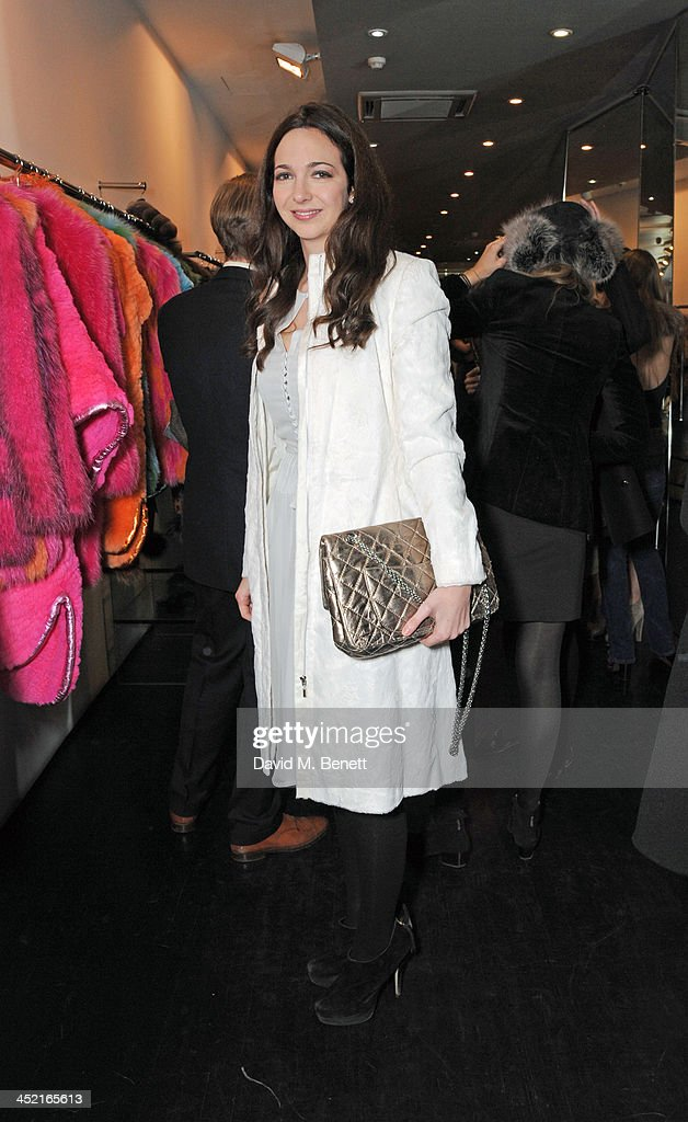 Celia Weinstock attends A Winter's Evening With Hockley hosted by Alice Naylor-Leyland and Katie Readman to preview the Autumn/Winter 2013-2014 collection at the Hockley Conduit Street store on November 26, 2013 in London, England.
