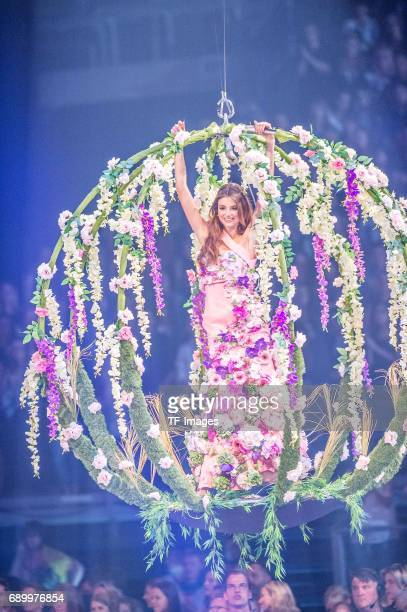 Celina Bethmann performs during the final of Germanys Next Top Model TV show at KönigPilsenerArena on May 25 2017 in OBERHAUSEN Germany