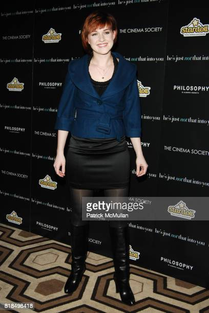 Celina Carvajal attend The Cinema Society with Philosophy Stardoll host a screening of 'He's Just Not That Into You' at Tribeca Grand Hotel on...