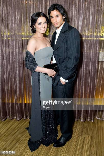 Celina Jaitley and Ben Mitchell attend the official premiere of 'Love Has No Language' at the Sylvia Park Hoyts on November 5 2008 in Auckland New...