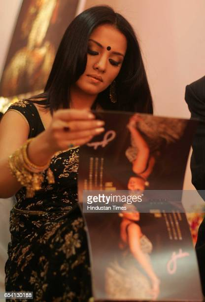 Celina Jaitley at the launch of brand endorsment of Jashn Sarees at Atria Mall Worli