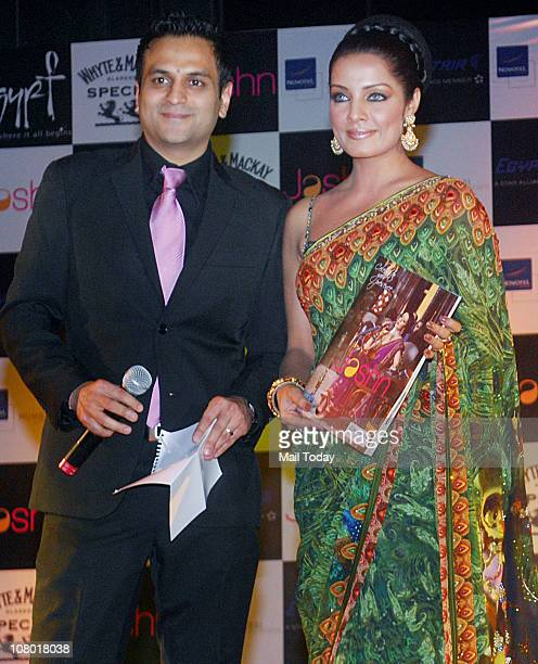 Celina Jaitley during the launch of Jashn calendar at Novotel Mumbai on January 12 2011