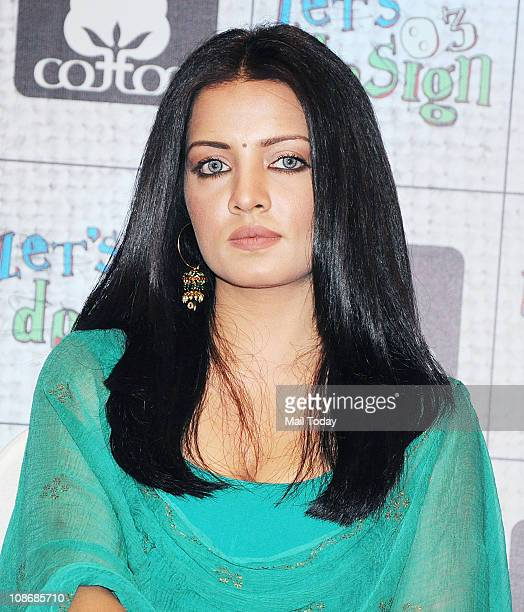 Celina Jaitley looks on as she participates in a promotional event for 'Let's Design' season 3 in Mumbai January 31 2011