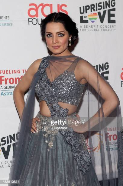 Celina Jaitly attends Uprising Of Love A Benefit Concert For Global Equality at the Gershwin Theatre on September 15 2014 in New York City
