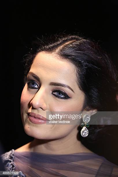 Celina Jaitly backstage at 'Uprising Of Love A Benefit Concert For Global Equality' at the Gershwin Theatre on September 15 2014 in New York City