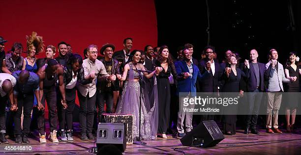 Celina Jaitly Stephanie J Block Billy Porter Patti LuPone Sting Vlad Lena Hall and cast performing at 'Uprising Of Love A Benefit Concert For Global...