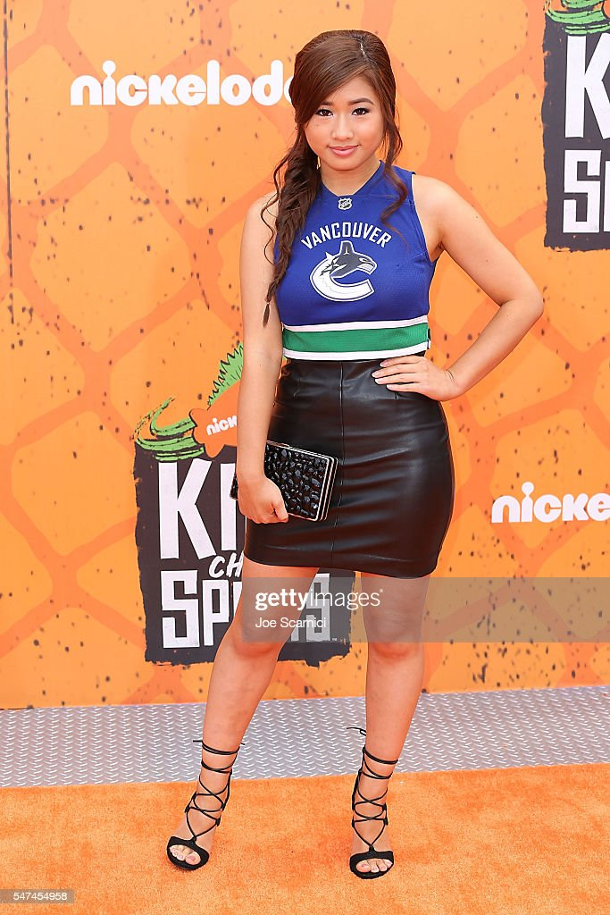 Celina Martin arrives at Nickelodeon Kids' Choice Sports Awards 2016 at UCLA's Pauley Pavilion on July 14 2016 in Westwood California