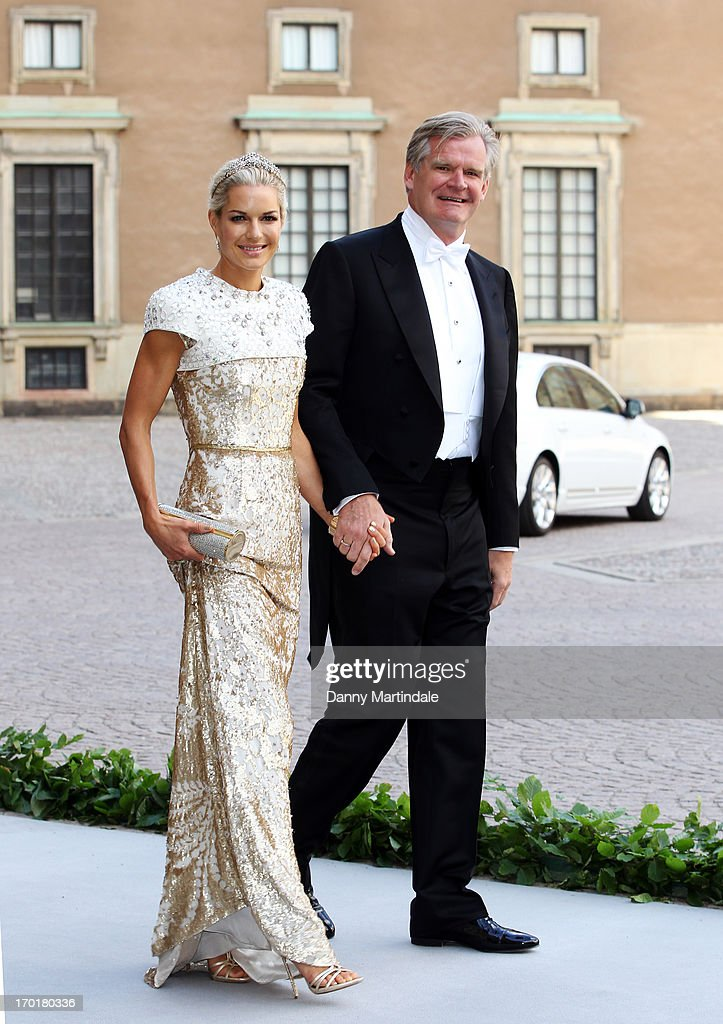 Celina Midelfart and Tor Olav Troim attend the wedding of Princess Madeleine of Sweden and Christopher O'Neill hosted by King Carl Gustaf XIV and Queen Silvia at The Royal Palace on June 8, 2013 in Stockholm, Sweden.
