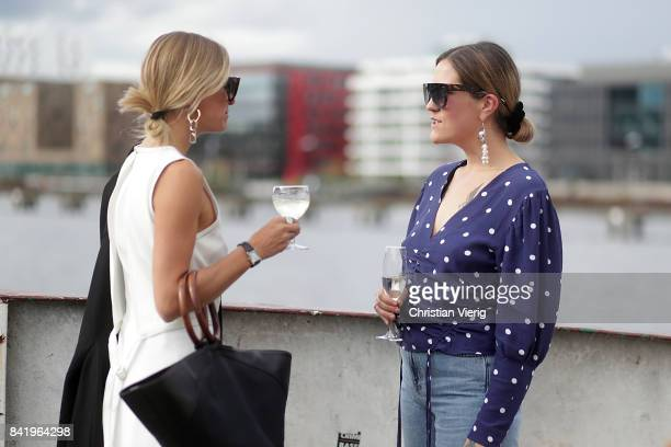 Celine Aagaar and a guest during the Bread Butter by Zalando 2017 at arena Berlin on September 2 2017 in Berlin Germany