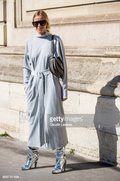 Celine Aagaard is seen before the Nina Ricci show at the Hotel National des Invalides during Paris Fashion Week Womenswear SS18 on September 29 2017...