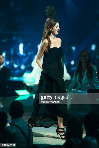 Celine Badman attends the Germany's Next Topmodel Final at KoenigPilsenerARENA on May 25 2017 in Oberhausen Germany