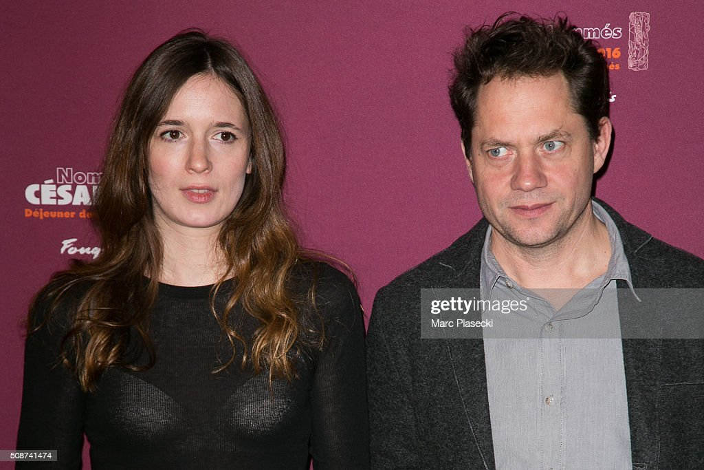 Celine Devaux and Ron Dyens attend the 'Cesar 2016- Nominee luncheon' at Le Fouquet's on February 6, 2016 in Paris, France.
