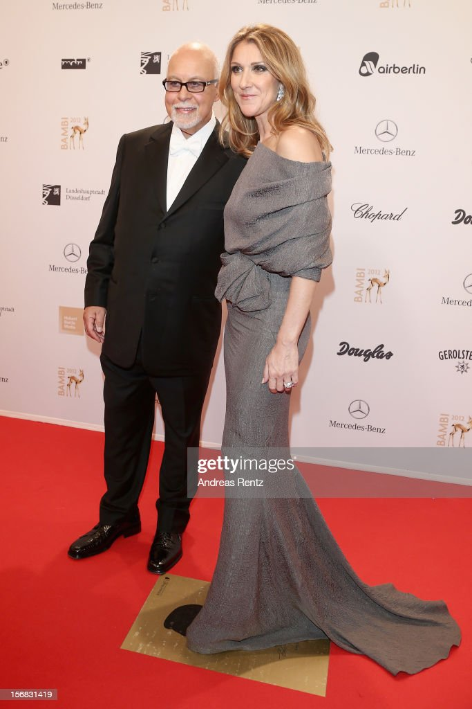 <a gi-track='captionPersonalityLinkClicked' href=/galleries/search?phrase=Celine+Dion&family=editorial&specificpeople=202973 ng-click='$event.stopPropagation()'>Celine Dion</a> and husband Rene Angelil attend 'BAMBI Awards 2012' at the Stadthalle Duesseldorf on November 22, 2012 in Duesseldorf, Germany.