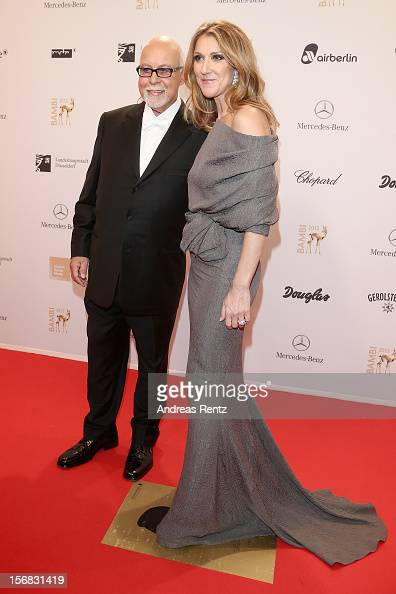 Celine Dion and husband Rene Angelil attend 'BAMBI Awards 2012' at the Stadthalle Duesseldorf on November 22 2012 in Duesseldorf Germany