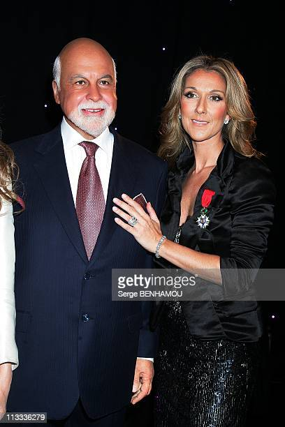 Celine Dion And Rene Angelil At Grevin Museum In Paris France On May 22 2008 Celine Dion